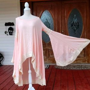 Boho Tunic Dress with Huge Bell Sleeves Hippie